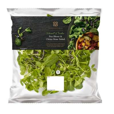 Co-op Irresistible Pea Shoot & China Rose Salad 80g
