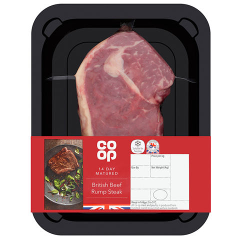 Co-op British Beef Rump Steak 227g