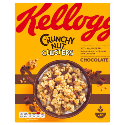 Kellogg's Crunchy Nut Clusters Chocolate Curls 450g