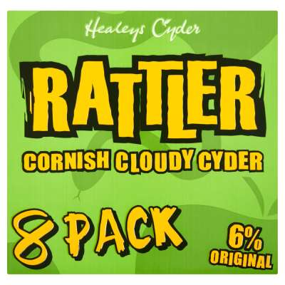 Healeys Rattler Cornish Cloudy Cyder Bottles 8x330ml
