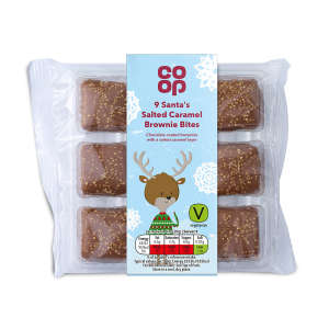 Co-op Santa's Salted Caramel Brownie Bites 9 Pack