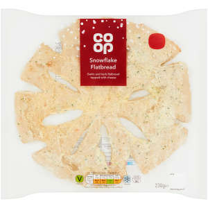 Co-op Christmas Snowflake Flatbread 230g