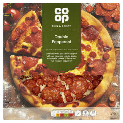 Co-op Thin & Crispy Pepperoni Pizza 339g