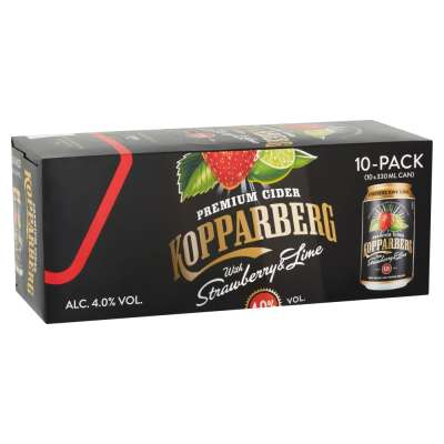Kopparberg Strawberry and Lime Can 10x330ml