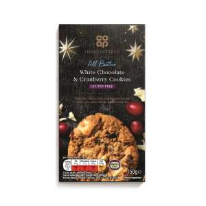 Co-op Irresistible White Chocolate & Cranberry Cookies 150g