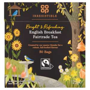 Co-op Irresistible English Breakfast Fairtrade Tea 50 Tea Bags 125g