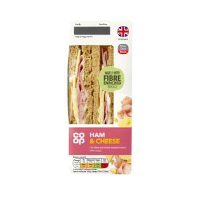 Co-op Ham & Cheese Sandwich