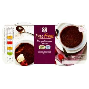 Co-op Free From Choco Mousse Dessert 2 x 90g - Gluten and Milk Free