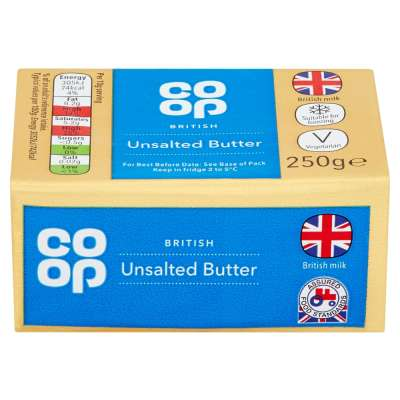 Co-op British Unsalted Butter 250g