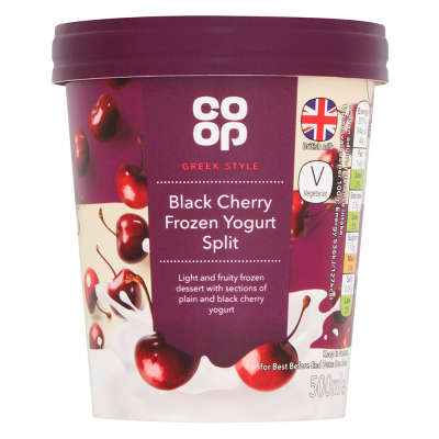 Co-op Black Cherry Natural Frozen Yogurt 500ml