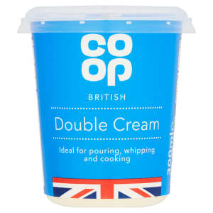 Co-op Fresh Double Cream 300ml