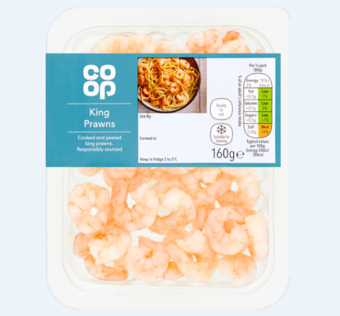 Co-op King Prawns 160g