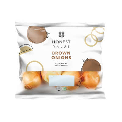 Co-op Honest Value Brown Onions 750g