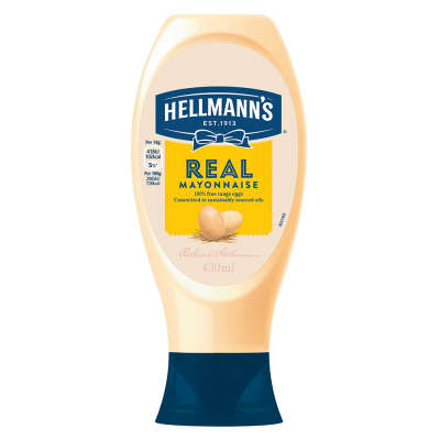 Hellmanns Real Mayonnaise Squeezy 430ml