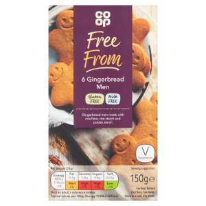 Co-op Free From 6 Gingerbread Men 150g - Gluten and Milk Free