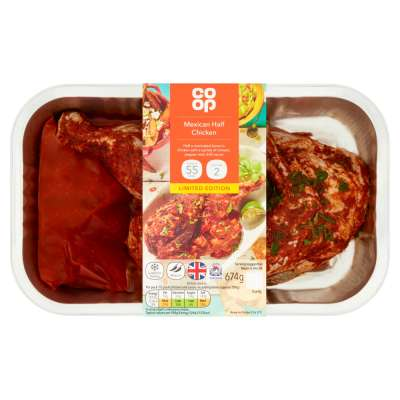 Co-op Mexican Half Chicken 674g