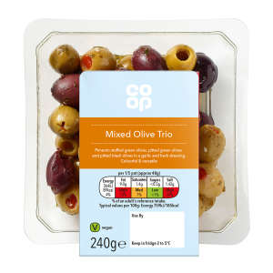 Co-op Mixed Olives Trio 240g