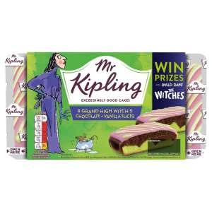 Mr Kipling Witches Chocolate and Vanilla Slices 8 Pack