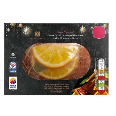 Co-op Irresistible Muscovado Baked Gammon Joint 750g