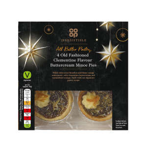 Co-op Irresistible Old Fashioned Clementine Buttercream Mince Pies 4 Pack