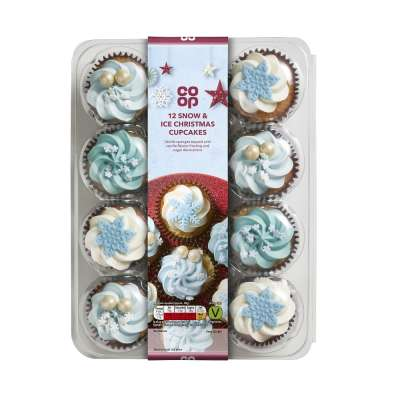 Co-op 12 Snow & Ice Christmas Cupcakes