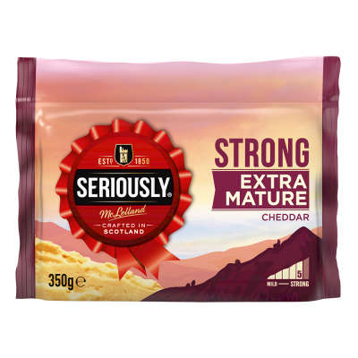 Seriously Strong Extra Mature White Cheddar 350g