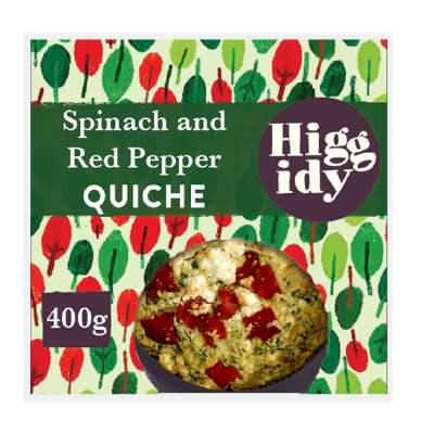 Higgidy Spinach and Red Pepper Quiche 400g