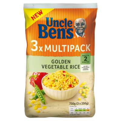 Uncle Bens Special Recipes Golden Vegetable 3x250g