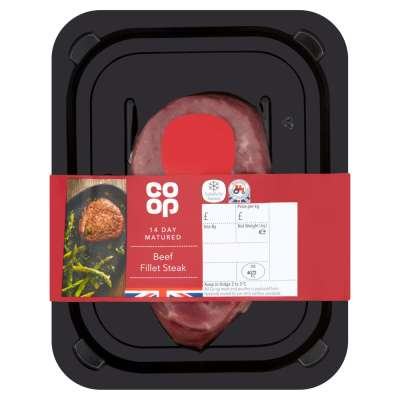 Co-op British Beef Fillet Steak 170g
