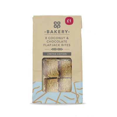 Co-op 8 Chocolate & Coconut Flapjack Mini Bites