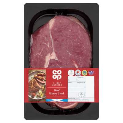 Co-op Scottish Beef Ribeye Steak 227g