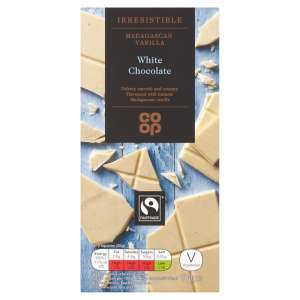 Co-op Fairtrade Irresistible Madagascan Vanilla White Chocolate
