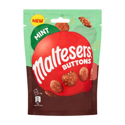 Maltesers Mint Buttons Pouch 102g