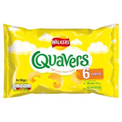 Walkers Quavers Cheese Multipack 6x16.4g