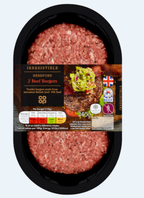 Irresistible Hereford Burgers 2 pack 340g