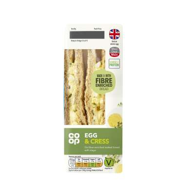 Co-op Egg & Cress Sandwich
