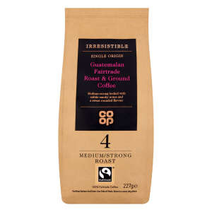 Co-op Irresistible Fairtrade Guatemalan Roast and Ground Coffee 227g