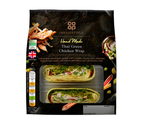 Co-op Irresistible Thai Green Chicken Wrap
