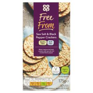 Co-op Free From Sea Salt and Black Pepper Cracker 175G - Gluten Free