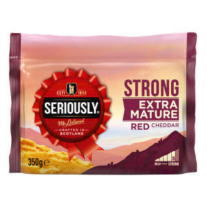 Seriously Strong Coloured Cheddar 350g