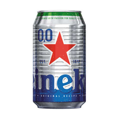 Heineken 0.0% Alcohol Free Lager Can 330ml