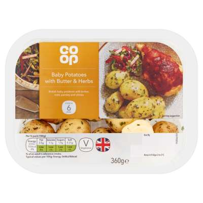 Co-op Baby Potatoes With Butter & Herbs 360g