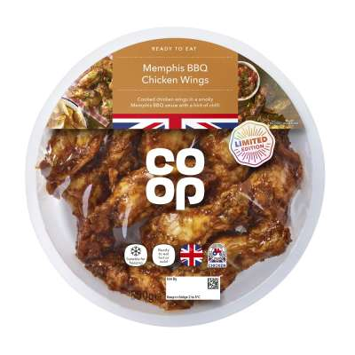 Co-op Memphis BBQ Chicken Wings 500g