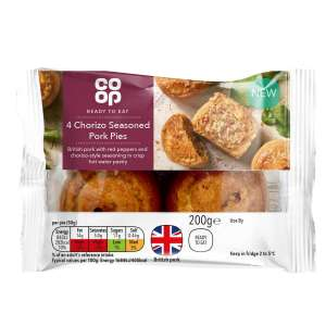 Co-op Pork and Chorizo Style Mini Pork Pie 200g