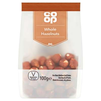 Co-op Whole Hazelnuts 100g