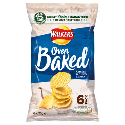 Walkers Baked Cheese and Onion 6x25g
