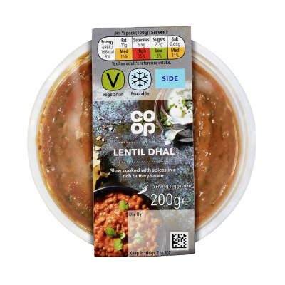 Co-op Takeaway Lentil Dhal 200g