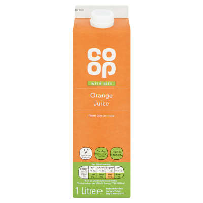 Co-op Orange Juice With Bits From Concentrate 1 Ltr