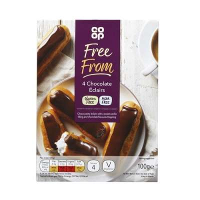Co-op Free From 4 Chocolate Eclairs 100g - Gluten Free and Milk Free