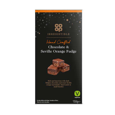 Co-op Irresistible Chocolate Orange Fudge 150g
